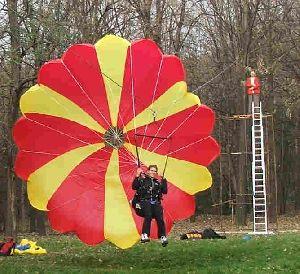 Вежба отварања падобрана