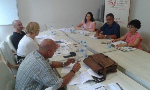 Чланови Суда части УНС-а са представницима Општине Алексинац (фото: УНС)