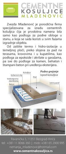 Cementna kosuljica ili ravnajuci sloj